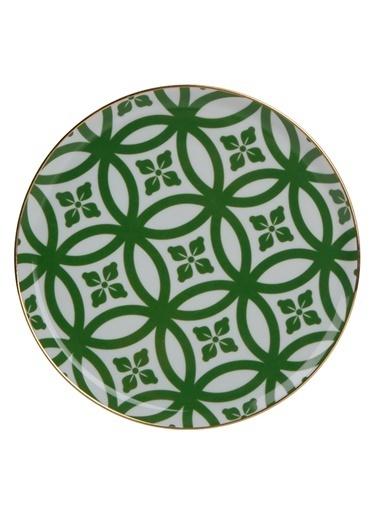 Porland Morocco Düz Tabak Desen1 Yeşil 20cm Yeşil